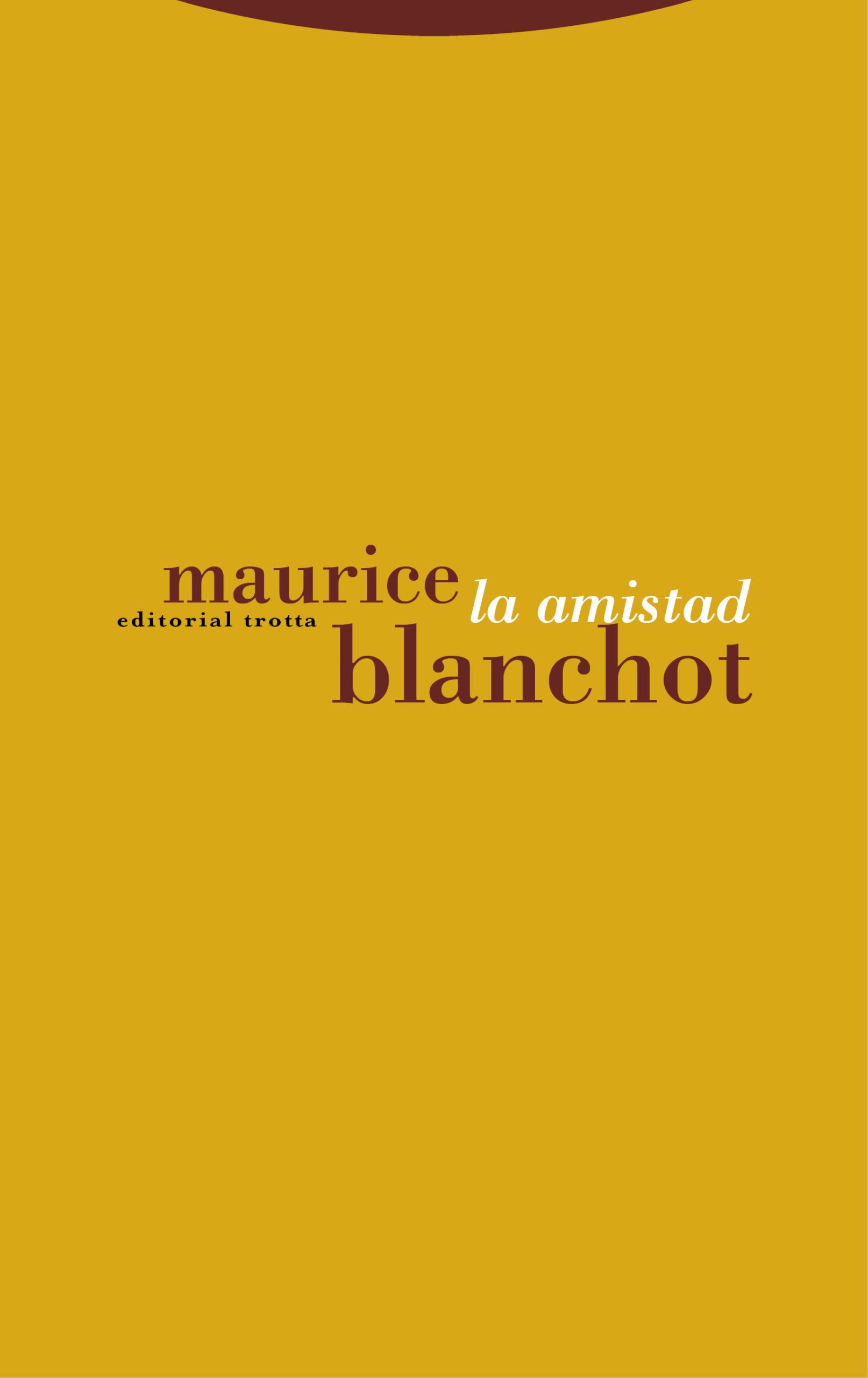 La amistad - Maurice Blanchot pdf