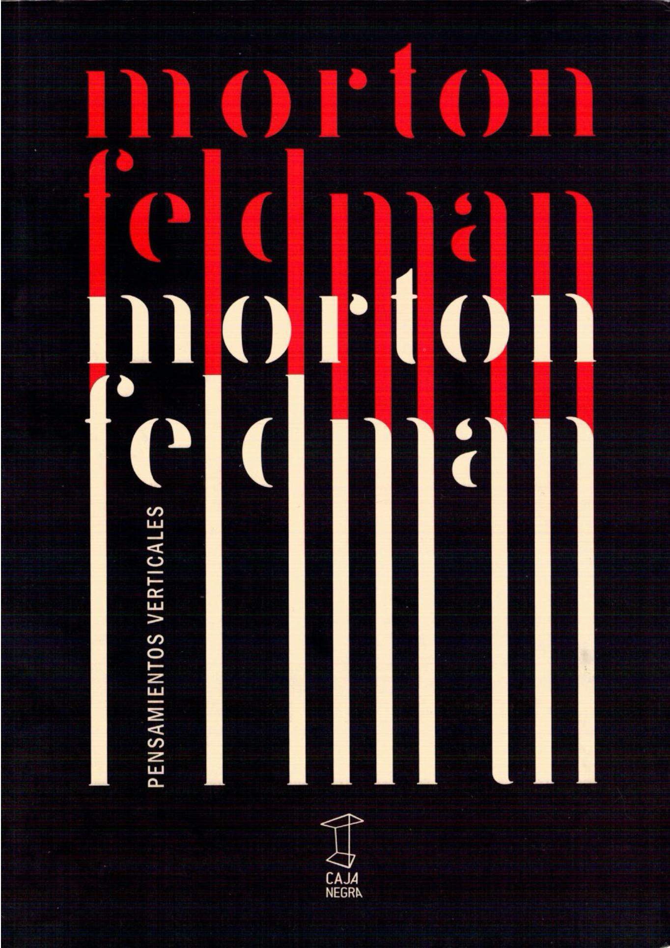 Pensamientos verticales - Morton Feldman pdf